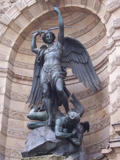 Archangel Michael Statue in Paris