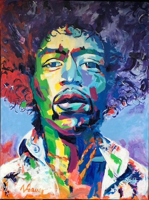 """Jimi Hendrix III 36""""x48"""""""
