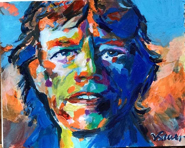 "Mick Jagger 5""x7"""