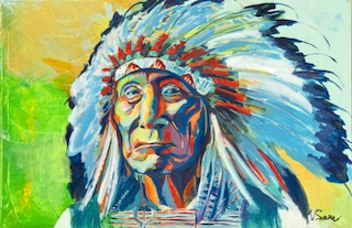 """Chief Red Cloud 38""""x 58"""""""
