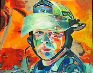 """Fire Chief Paul Sowers 24""""x 30"""""""
