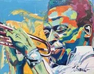 "Miles Davis 24""x 30"""