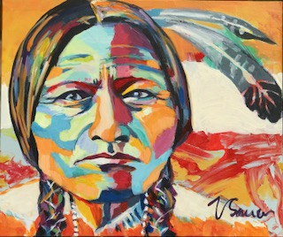 """Sitting Bull 20""""x 24"""""""