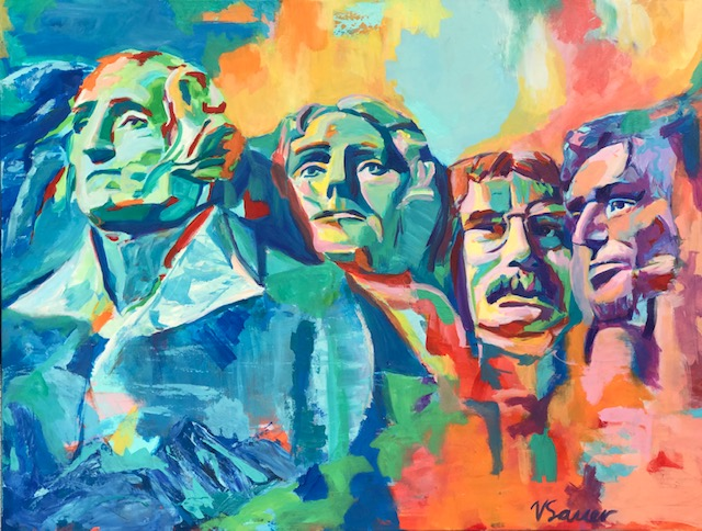 """Mt. Rushmore 36""""x 48"""""""