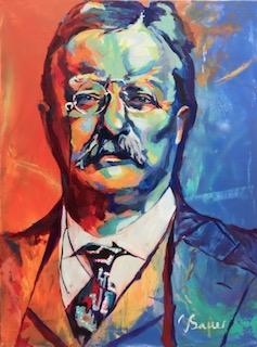 "Teddy Roosevelt 36""x 48"""