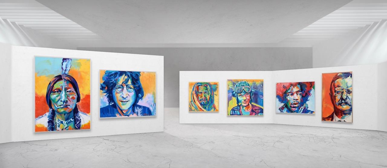 Gallery portrait wall