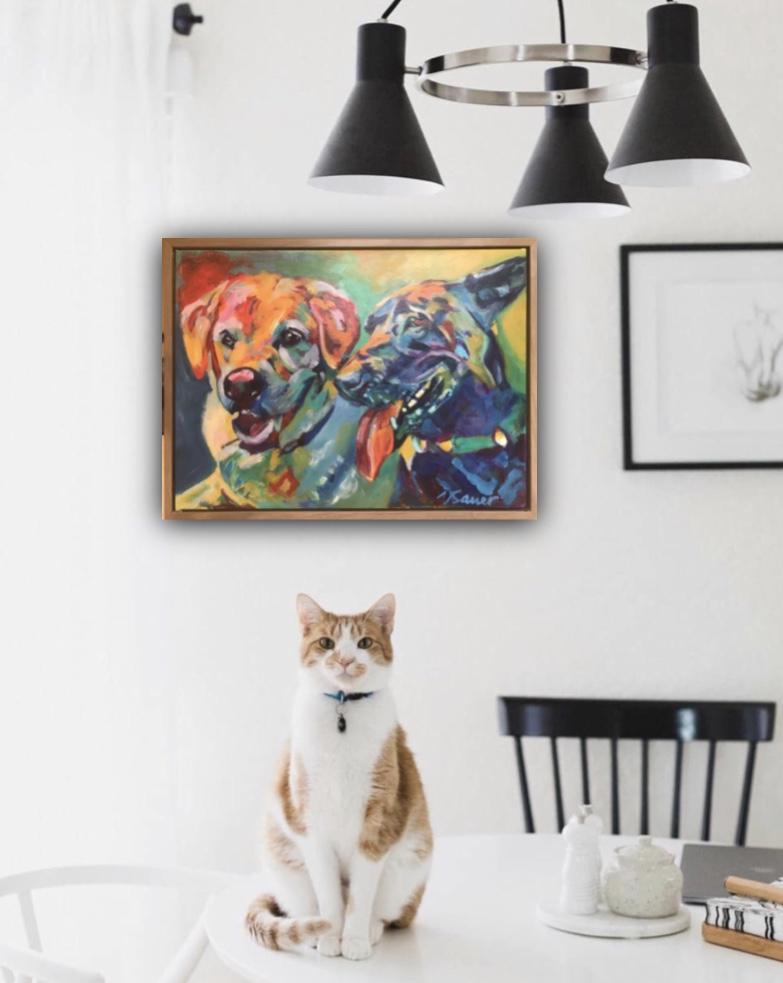 beni dogs on wall