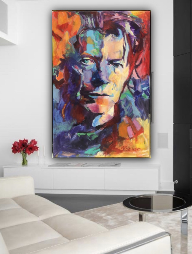 bowie on wall
