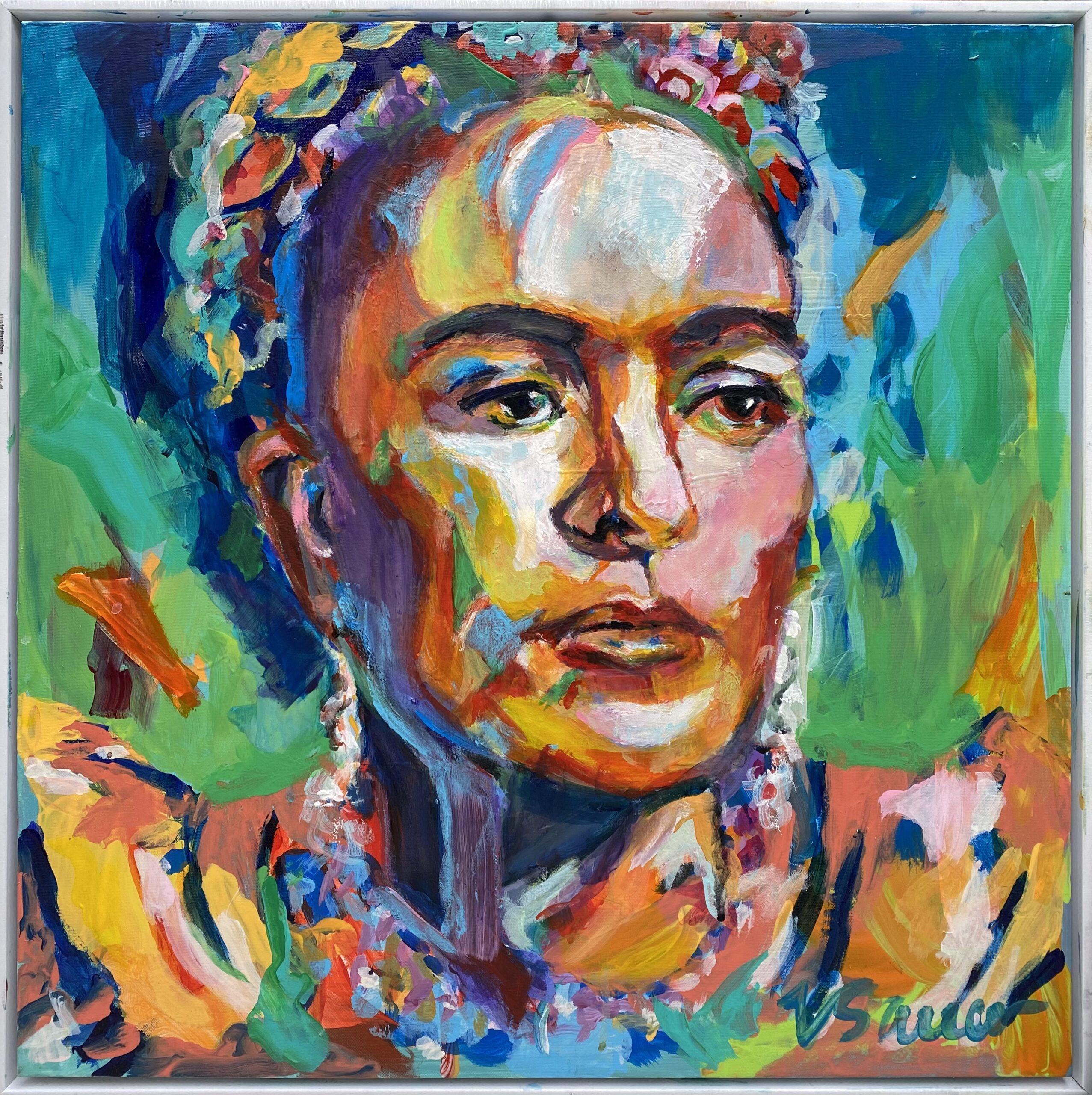 """Frida Kahlo 18""""x18"""""""