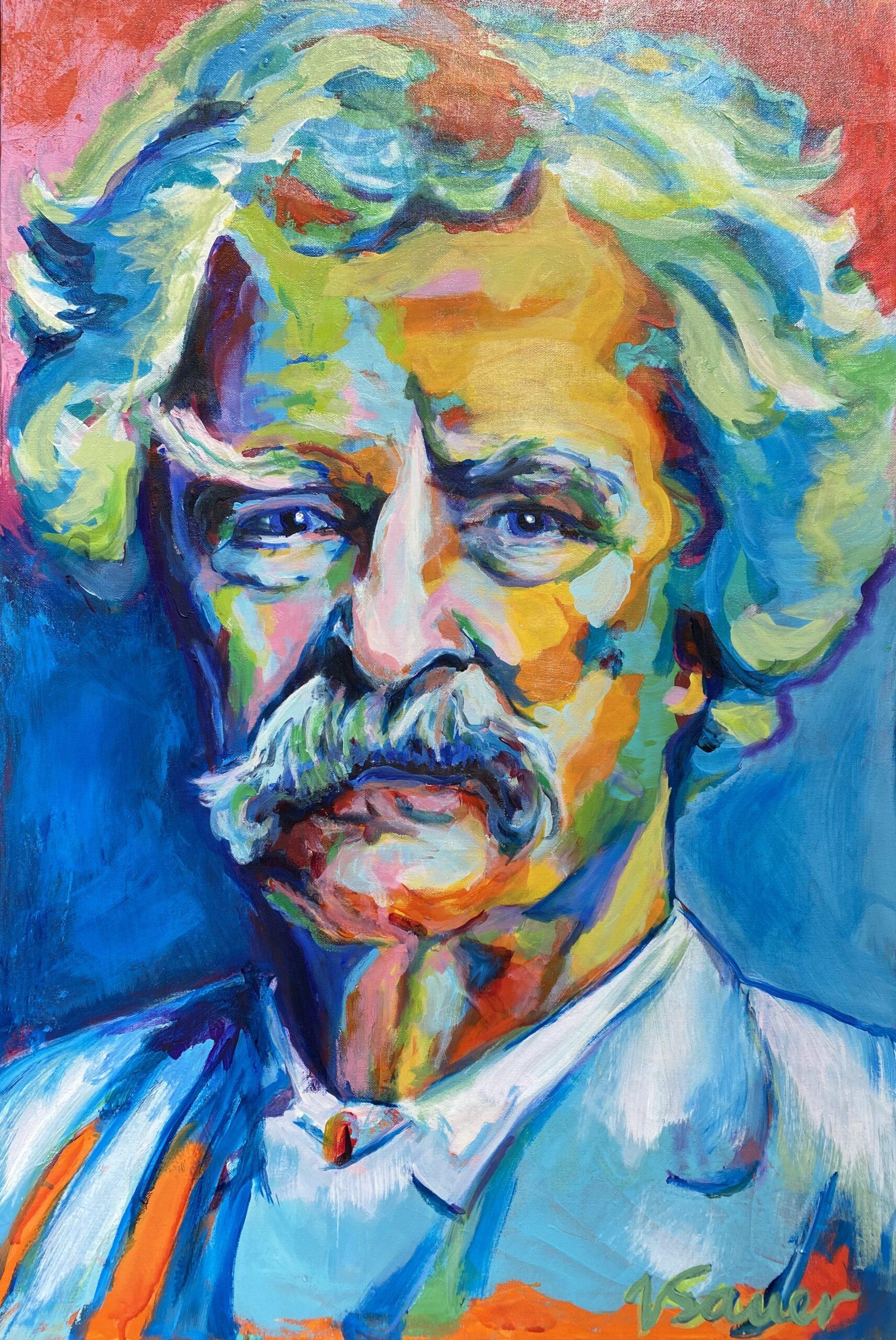 "Mark Twain 24'x36"""