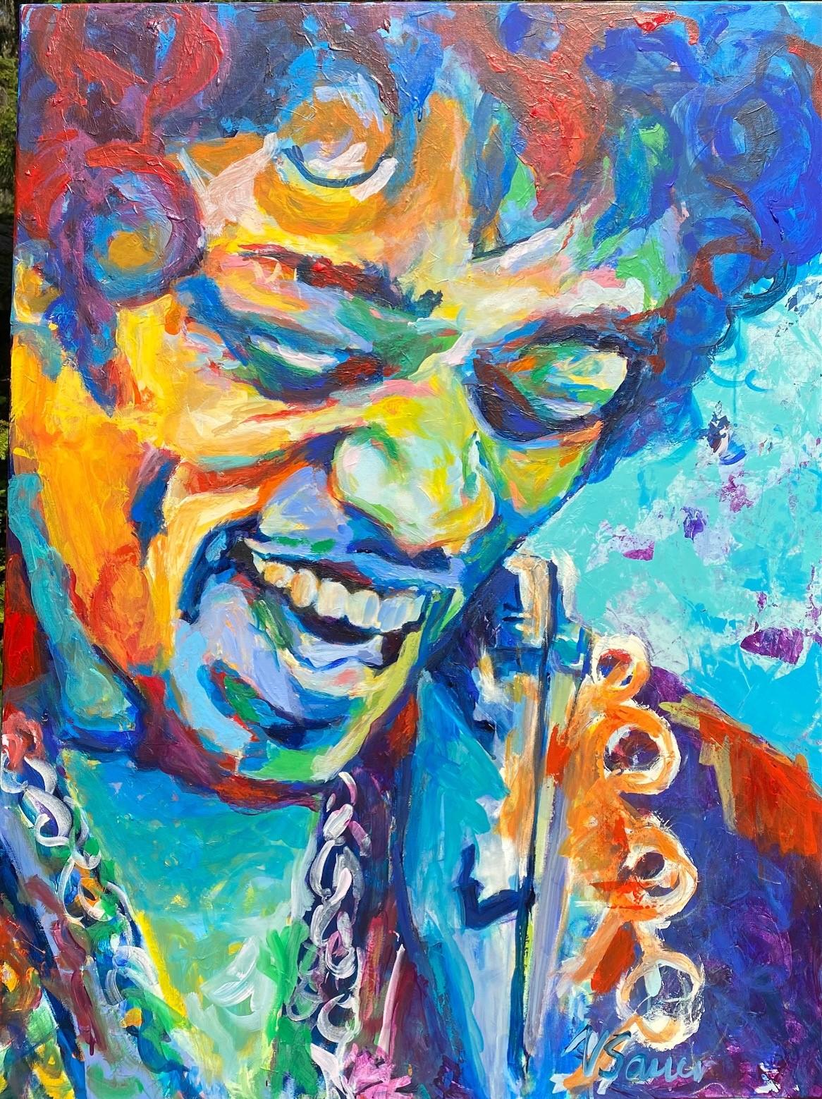 """Jimi Hendrix IV 36""""x48"""""""