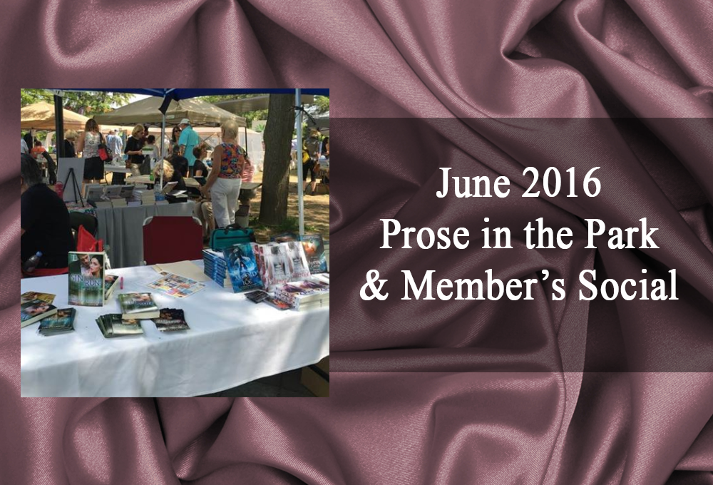 June 2016: Prose in the Park and Social