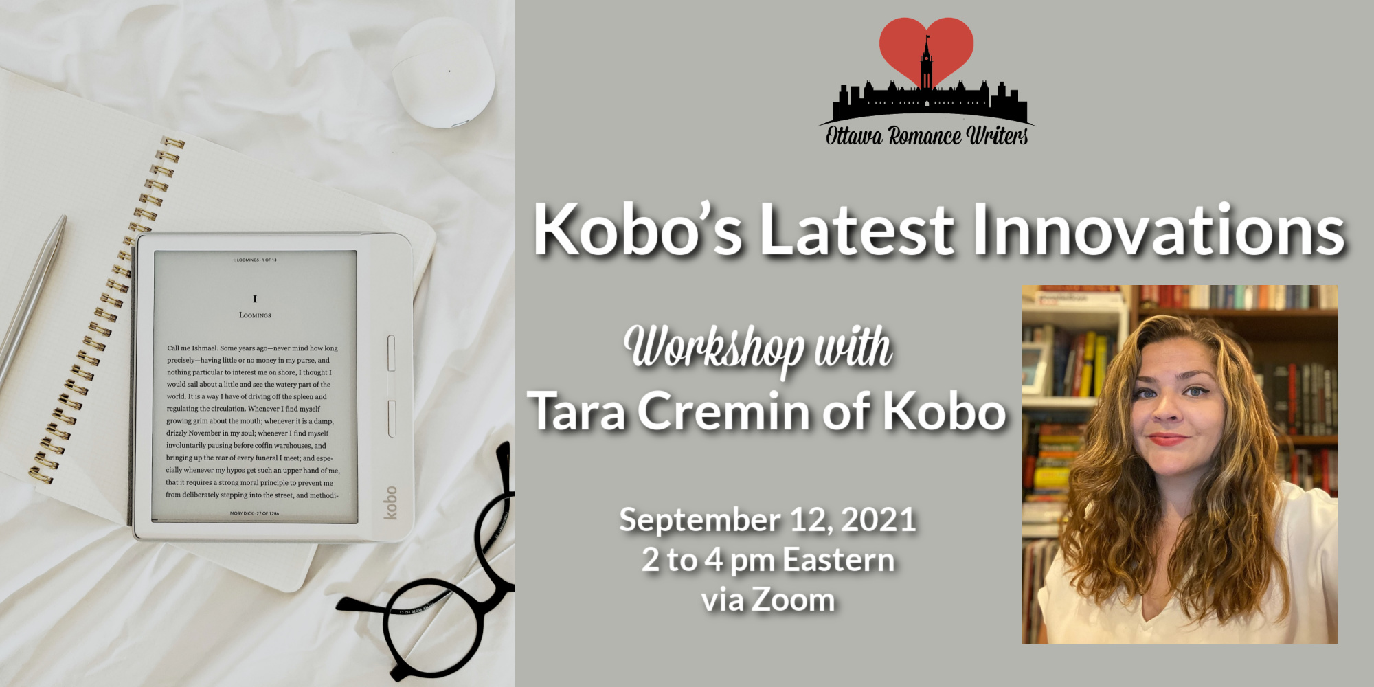 Sept 12, 2021 Workshop: Kobo's Latest Innovations with Tara Cremin