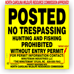 Posted-hunting-fishing-prohibited-north-carolina-312PNC-1