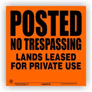 Posted-lands-leased-orange-aluminum-sign-312AO-LL-1