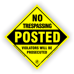 diamond-no-trespassing-posted-violators-sign-604PNT-1