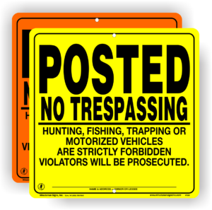 orange-yellow-self-supporting-no-trespassing-signs-1