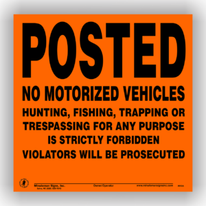 posted-no-trespassing-motorized-vehicles-orange-aluminum-1