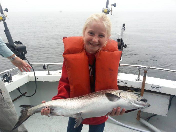 Seattle Fishing King Salmon Girl