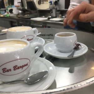 Two Cappuccinos and an Espresso