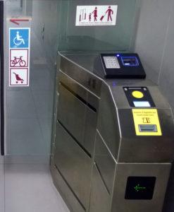 Metro Turnstile - Rome