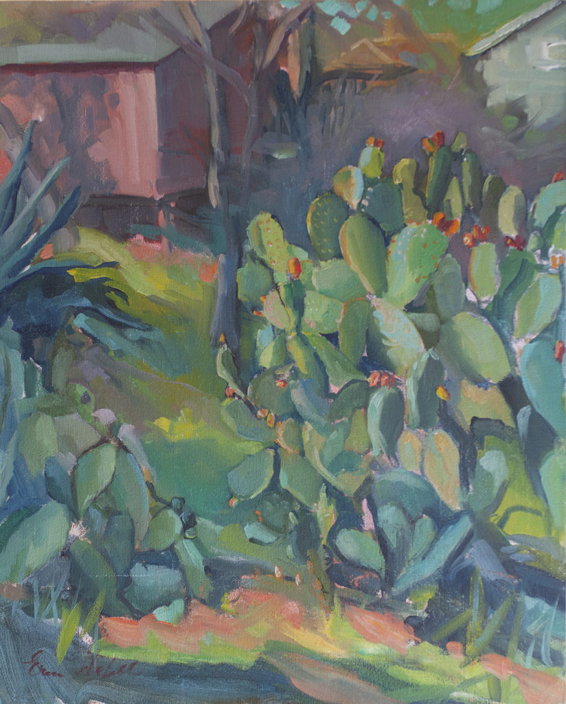Prickly Pears in the Lower Garden by Erin Lee Gafill