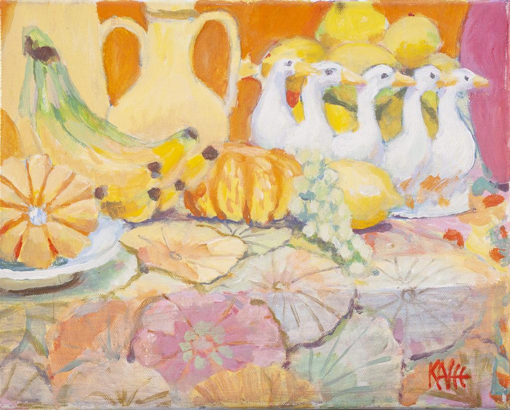 Goose Bowl Still Life by Kaffe Fassett