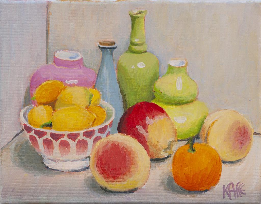Fruit and Bowl of Lemons by Kaffe Fassett