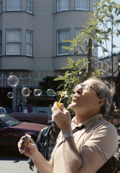 Blowing Bubbles in North Beach, Tony Orser