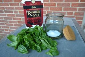 Preserving Basil in Salt
