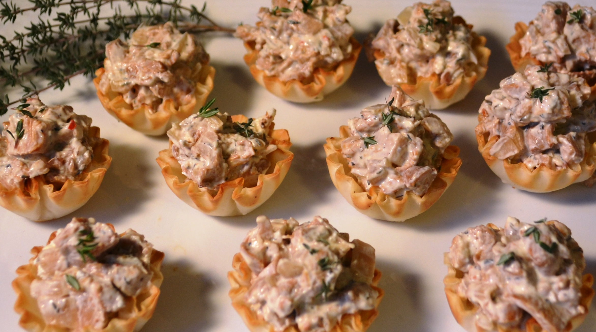 Chanterelle Mushroom and Goat Cheese Cups