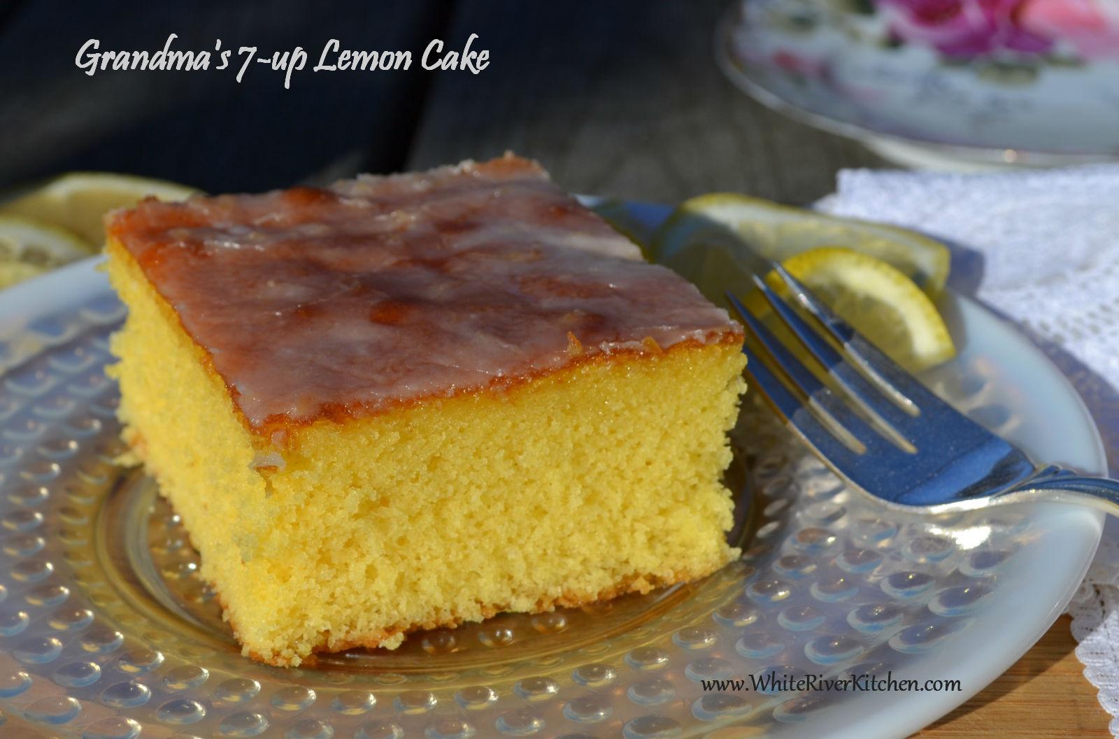 Grandma's Lemon 7up Cake