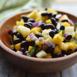 Pineapple Mango Salsa with Black Beans