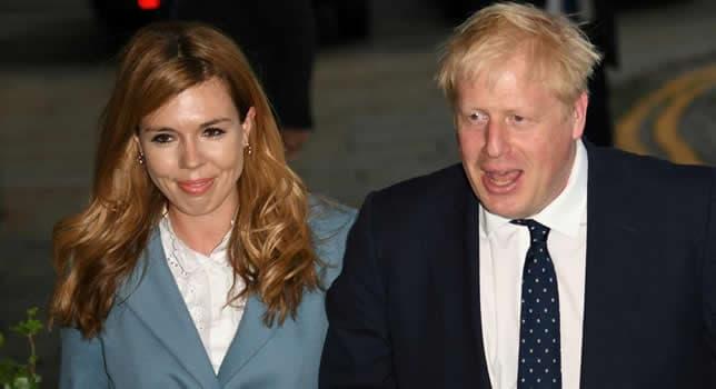 Carrie Symonds with her fiancée, Boris Johnson