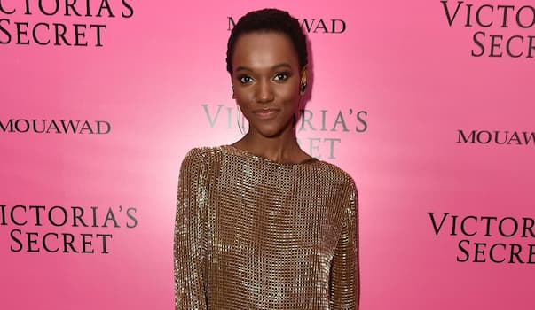 Herieth Paul on a Victoria's Secret Red Carpet