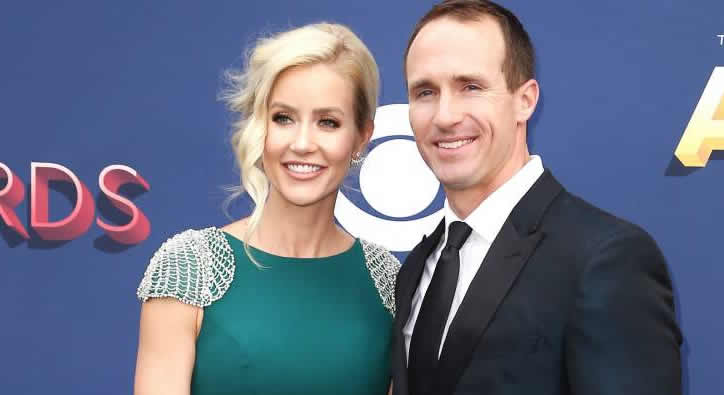 Brittany Brees with her husband Drew Brees