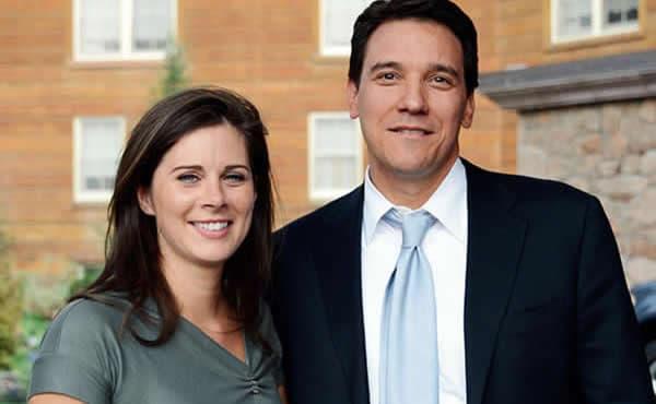 Erin Burnett, CNN anchor, with her husband