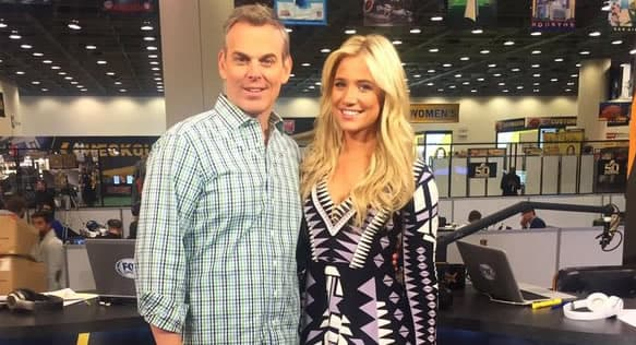 Kristine Leahy with her former co-host Colin Cowherd