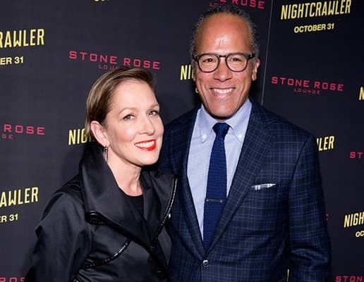 Lester Holt with his wife Carol Hagen Holt