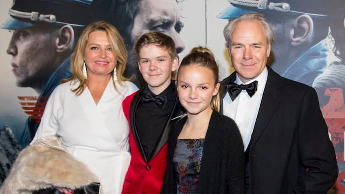 Harald Zwart with his wife and kids