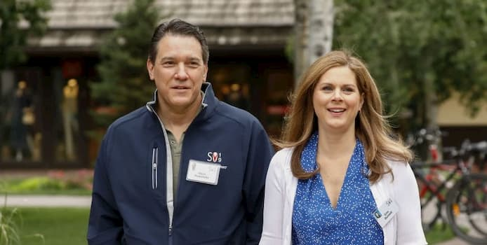 David Rubulotta with his wife, Erin Burnett