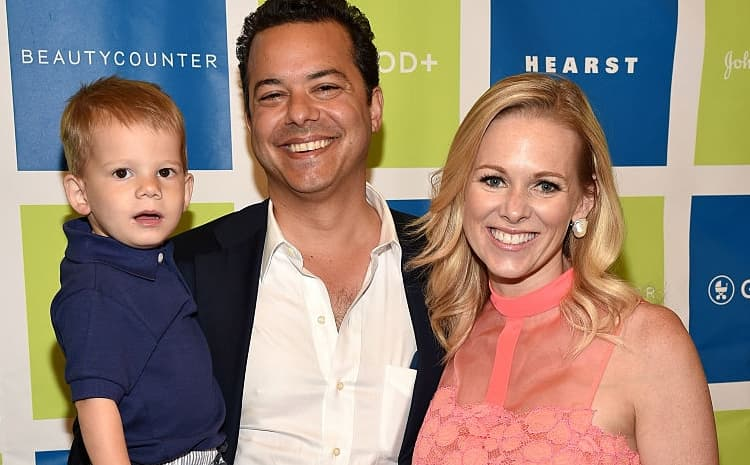 Margaret Hoover with her husband John Avalon and their son