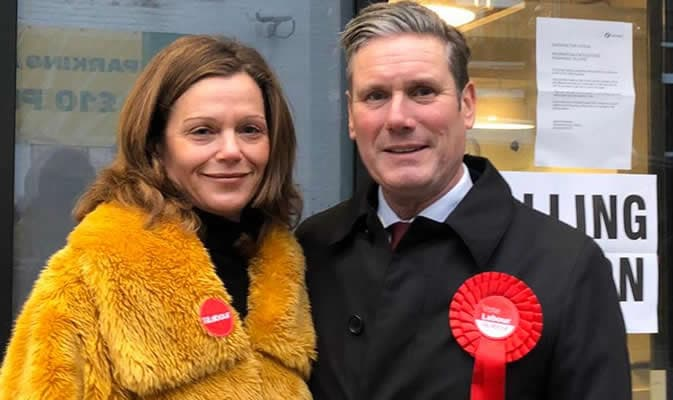 Victoria Starmer with her husband sir Keir Starmer