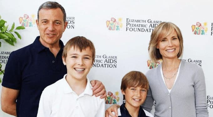 Willow Bay, her husband Bob Iger and their two sons