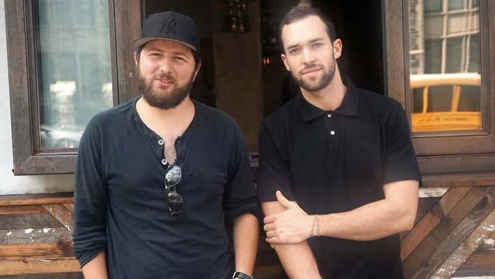 Matthew Trebek with his business partner Nodar Mosiashvili