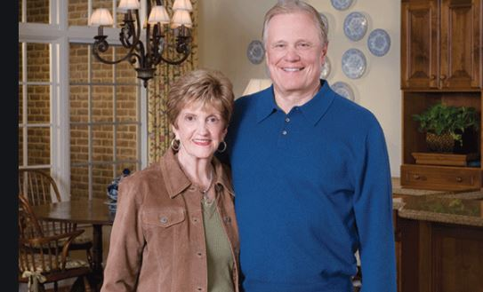 Pastor Ed Young Snr. with his late wife