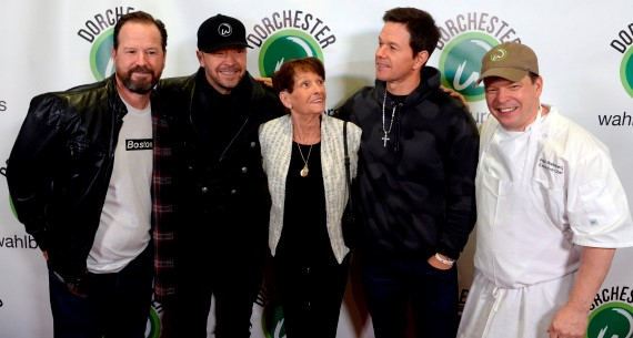 The Wahlberg Brothers and their mother Bob, Donnie, Alma, Mark and Paul