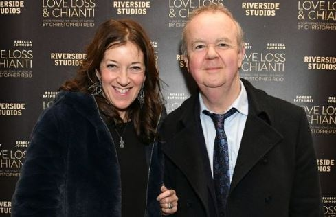 Journalist Ian David Hislop with his wife