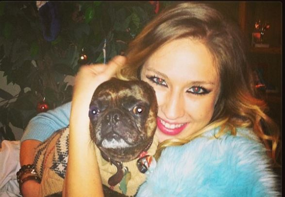 Amelia Babis Kelly with one of her dogs