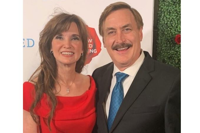 Ms. Dallas Yocum with her ex-husband Mike Lindell